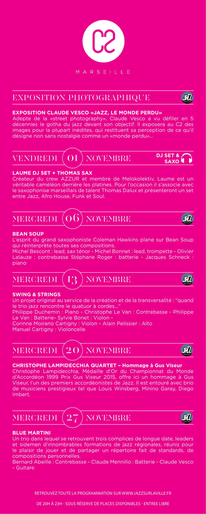 programmation novembre jazz 2