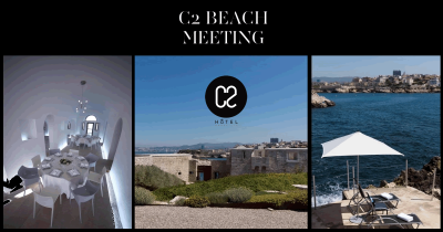 C2 Beach meeting: seminar hotel in Marseille, team building and private luxury beach